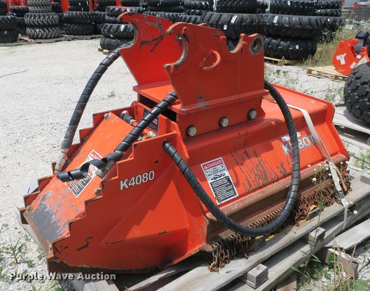 Kubota K4080 excavator brush mower