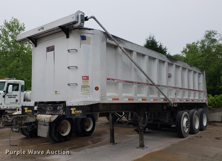 2002 Travis end dump trailer