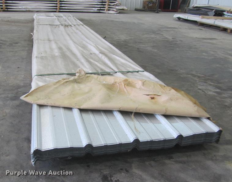 (75) sheets of metal siding/roofing