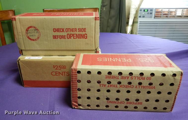 (3) boxes of lincoln pennies