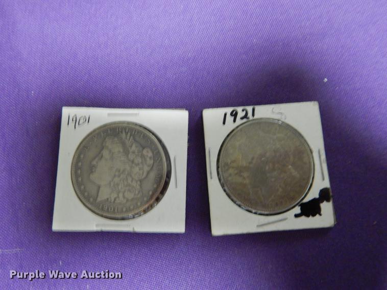 (2) Morgan dollars