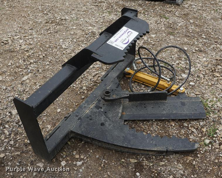 Tree shear skid steer attachment
