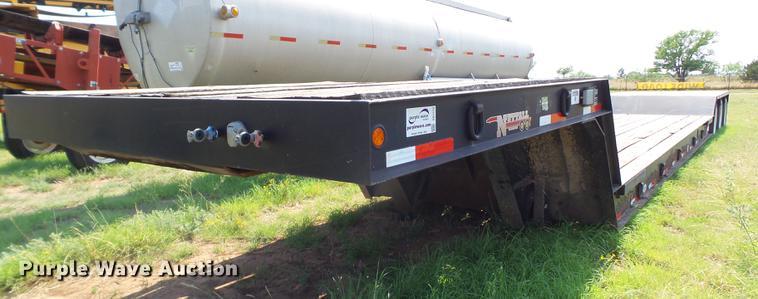 2013 Nuttall 350DD lowboy equipment trailer