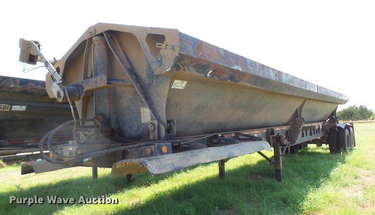 1998 Circle R side dump trailer