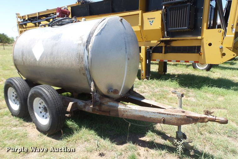 Shop built fuel trailer