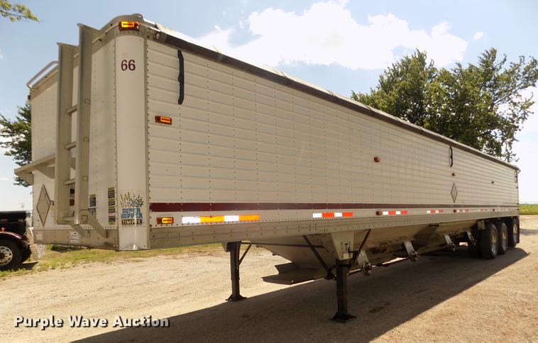 2004 Timpte Super Hopper double hopper bottom grain trailer