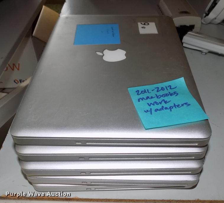 (5) Macbook laptops