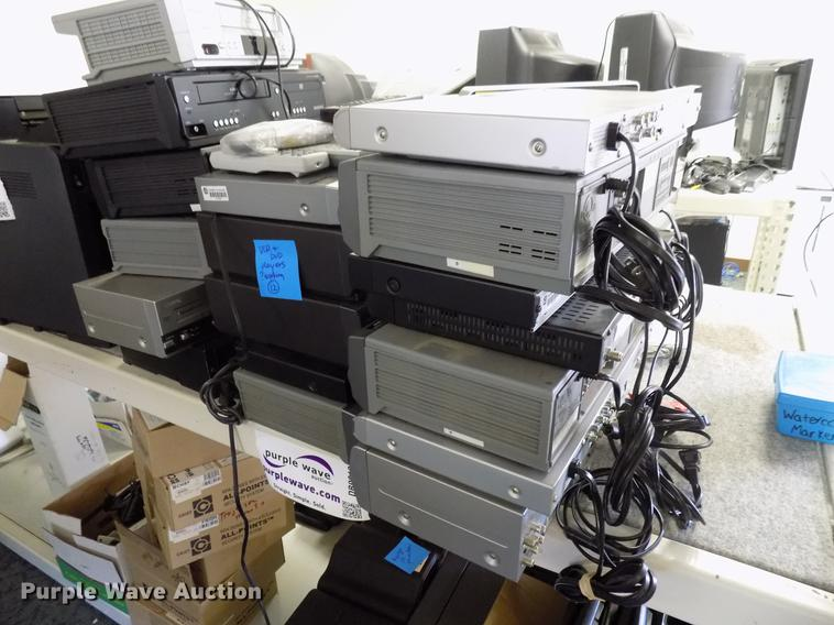 Approximately 18 DVD and VCR players