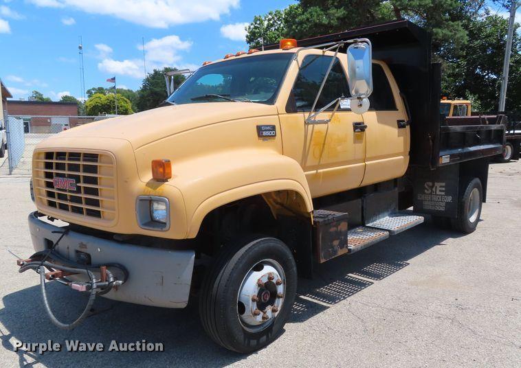 1997 GMC C6500 Crew Cab dump truck