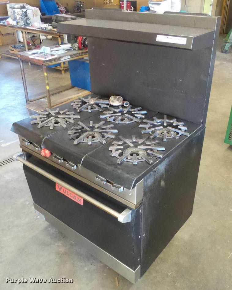 Vulcan oven with six burner cook top