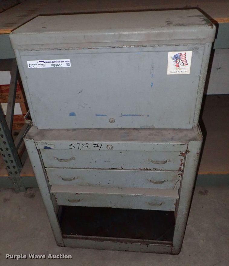 Tool cabinet with top box