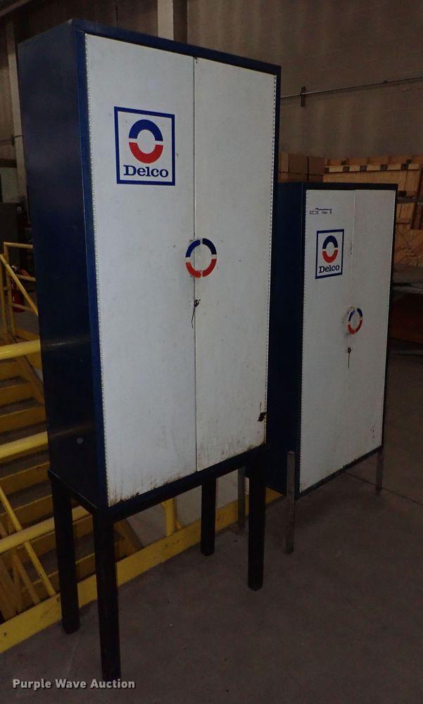 (2) Delco steel cabinets