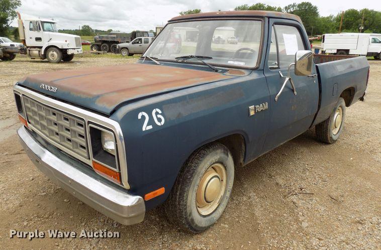 1985 Dodge D150 pickup truck