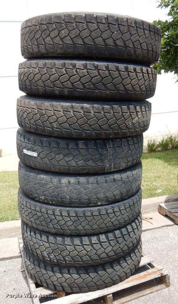 (8) 11R22.5 recapped tires