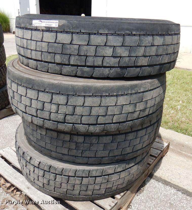 (4) 11R22.5 tires