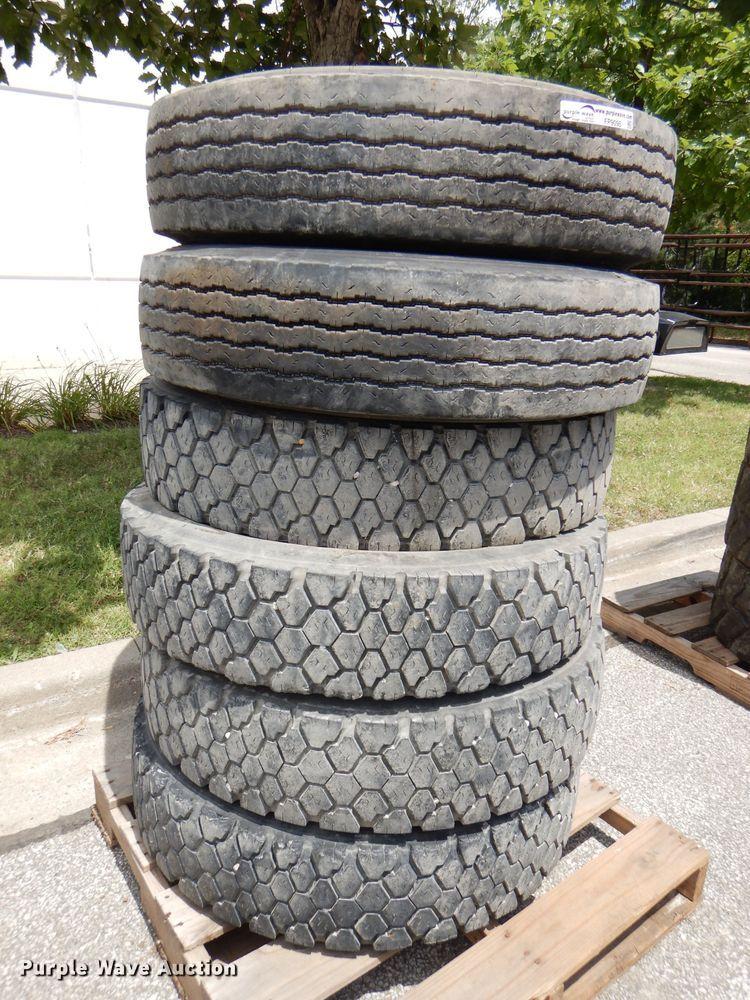 (6) 11R22.5 recapped tires