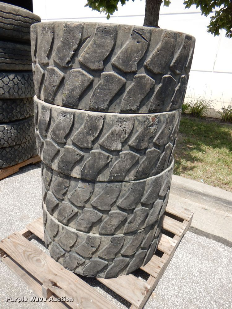 (4) Michelin 12N16.5 solid tires