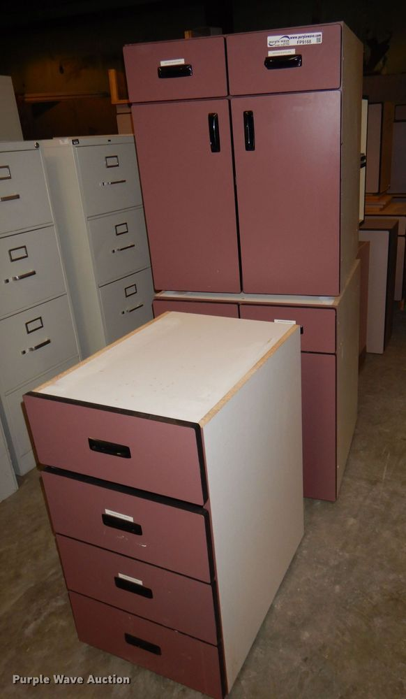 (19) cabinet pieces