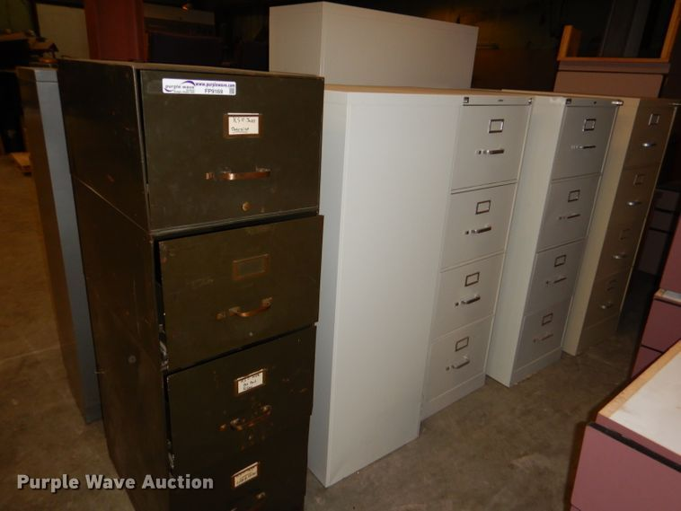 (10) metal file cabinets