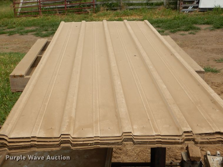 Approximately 15 8' tin sheets