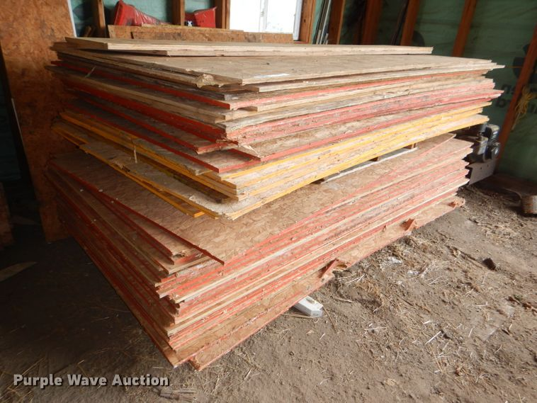 Approximately 68 4' x 8' sheets of plywood