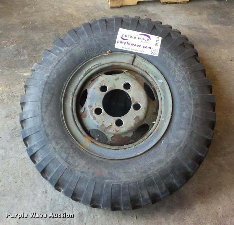 (2) 9.00-16 tires and wheels