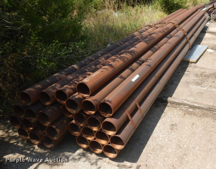 (28) sections of 21'L steel pipe