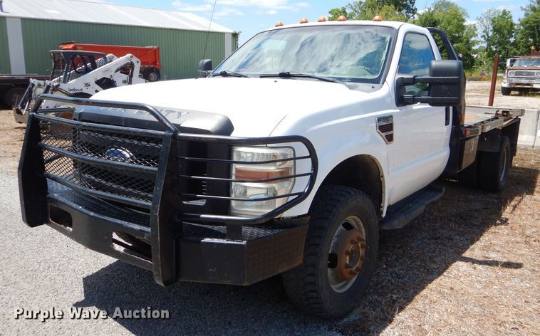 2008 Ford F350 Super Duty XL bale bed pickup truck