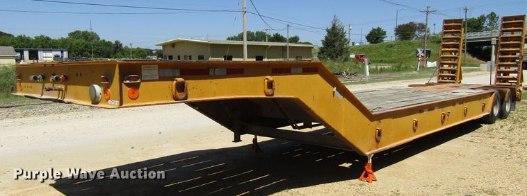 1970 Load King drop deck equipment trailer