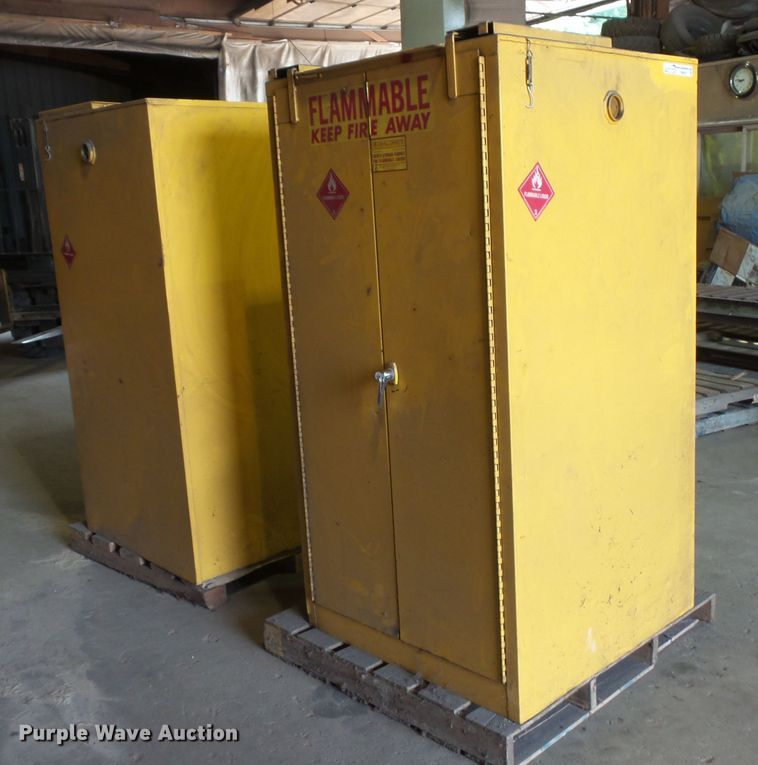 (2) safety cabinets