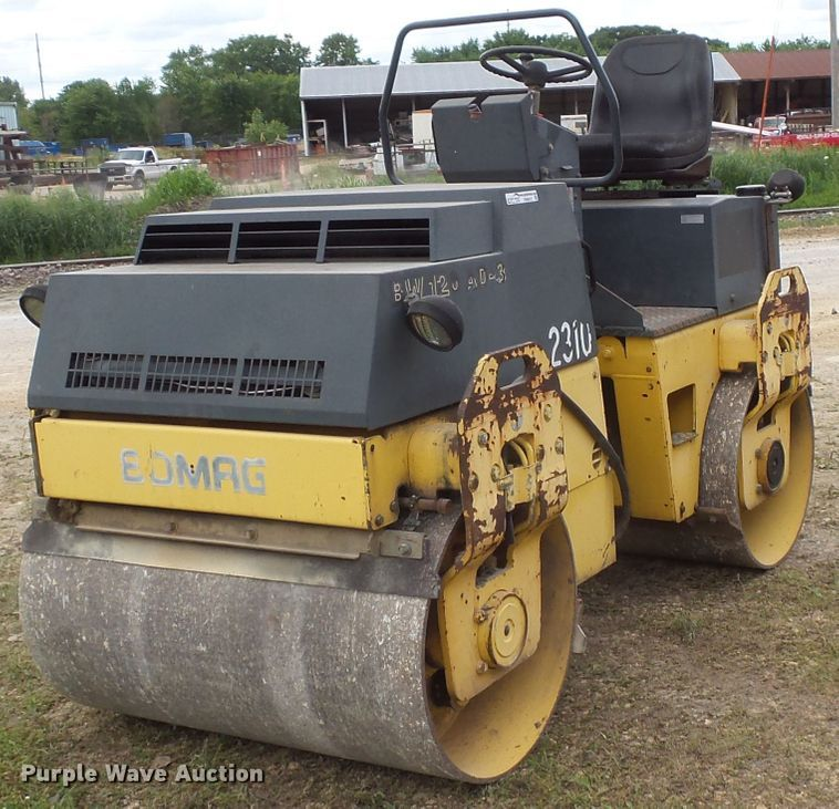 1997 Bomag BW120AD-3 double drum vibratory roller