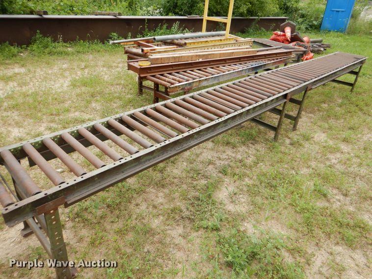 (4) roller conveyor sections