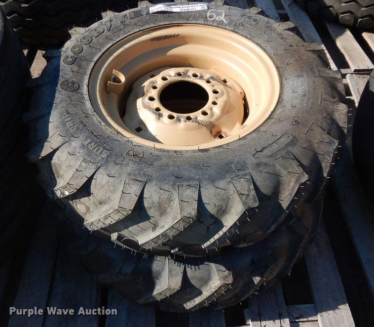 (2) 7.60-16 tires and wheels