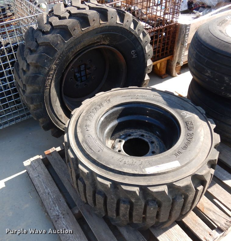(2) tires and wheels