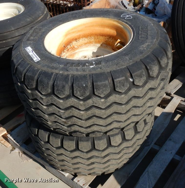 (2) 380/55R16.5 IMP tires and wheels