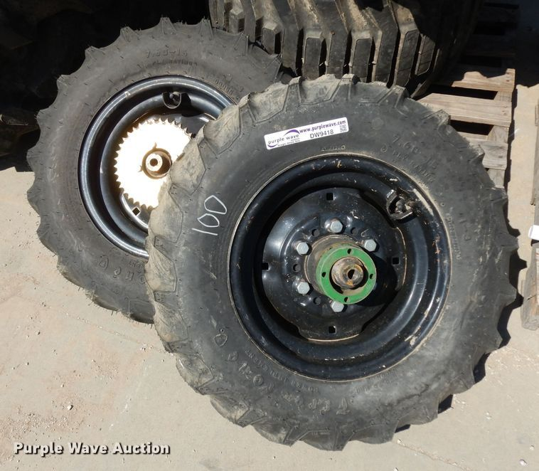 (2) 7.60-15 tires and wheels