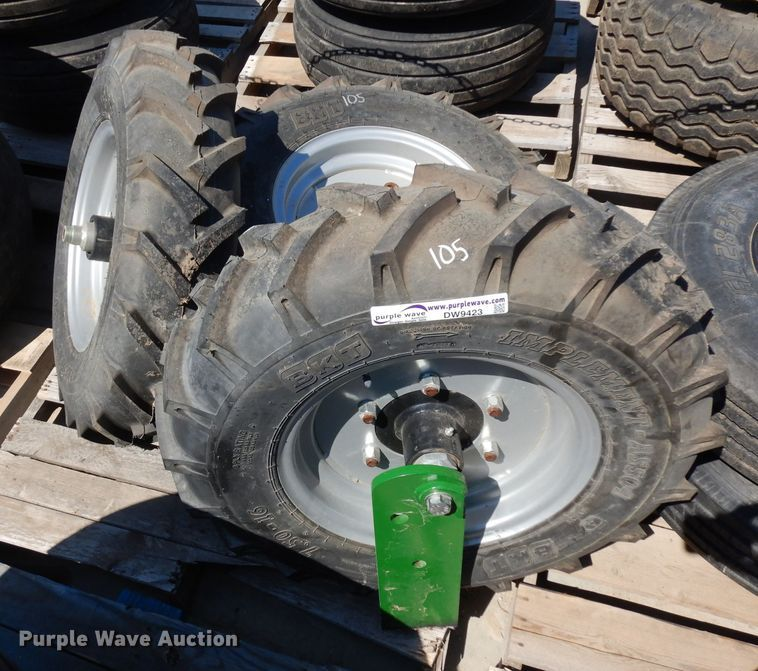(4) 7.50-16 tires and wheels