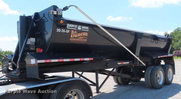 2017 Ranco 20-26-QF end dump trailer