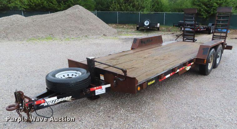 2008 Hillsboro S420-2X-BT equipment trailer