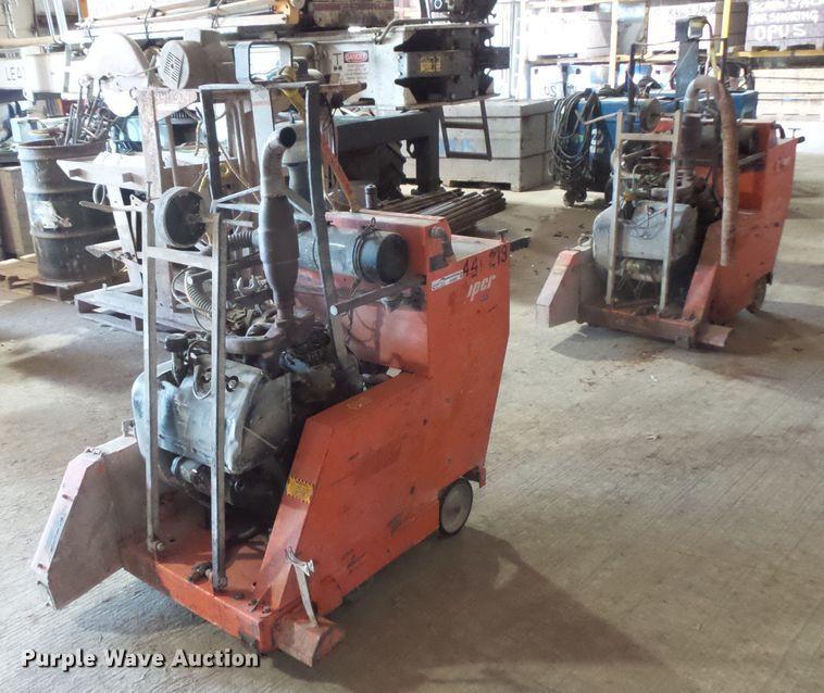 (2) Concrete saws
