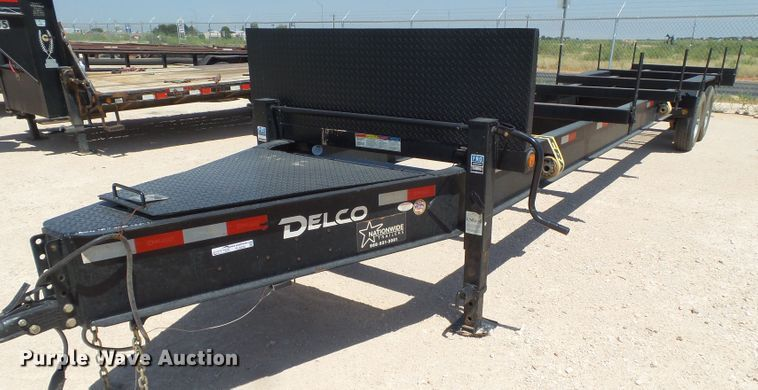 2018 Delco pipe trailer