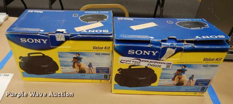 (2) Sony DCR DVD201 camcorders