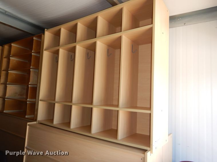 (18) wood cupboards
