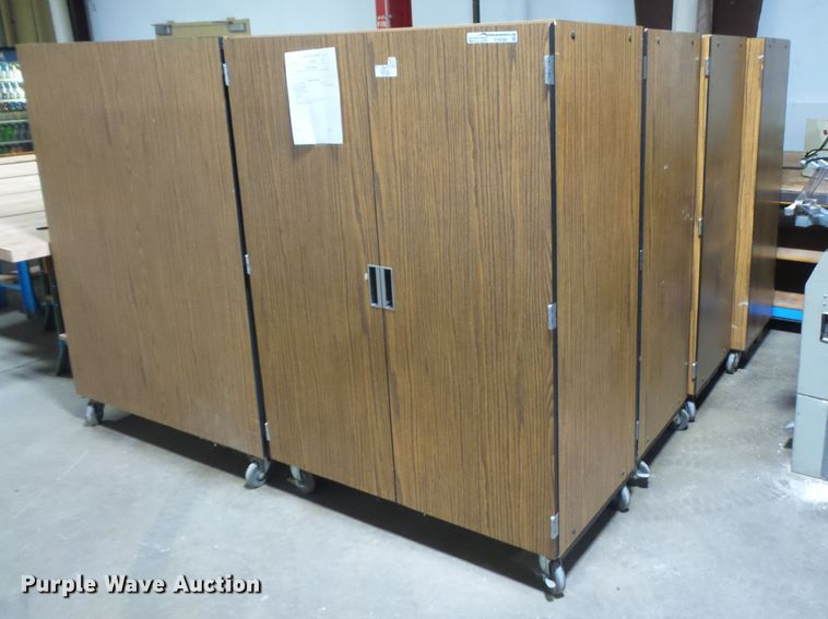 (8) wood cabinets
