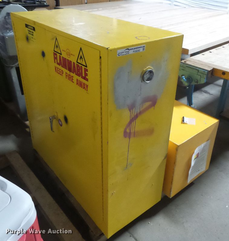 (2) flammable cabinets
