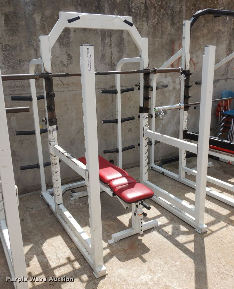 Weight lifting rack