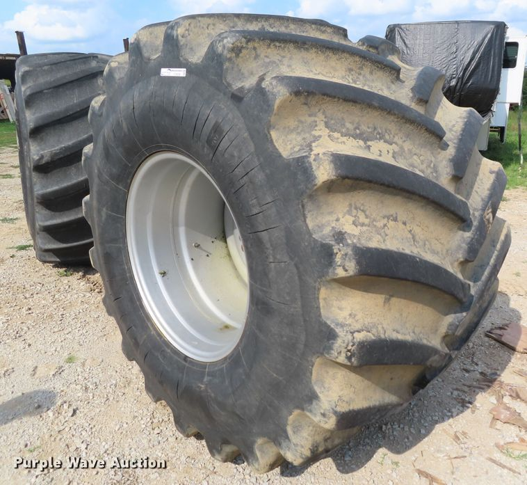 (2) 1250/45-32 tires and wheels