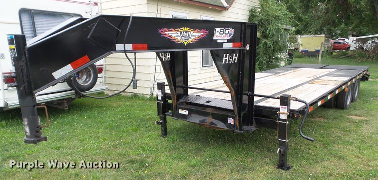 2018 H&H H20+5SDBU-GN19-200 equipment trailer