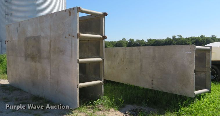 (2) aluminum trench boxes