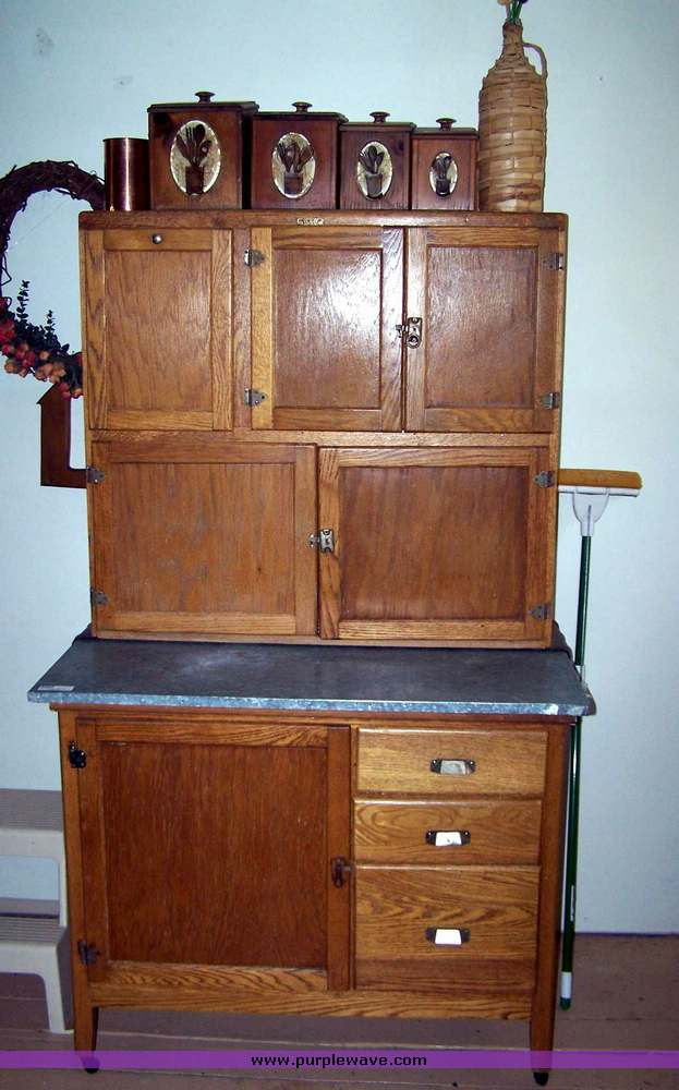 Antique Kitchen Cabinet With Flour Bin Source 8562 Image For Item